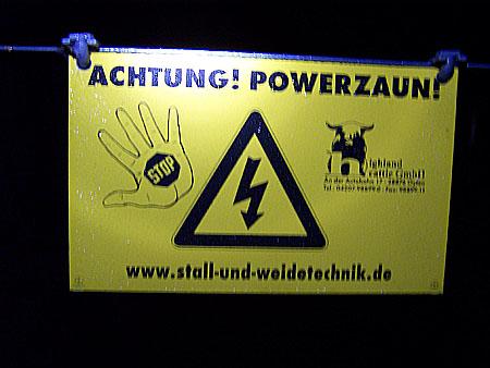 Vorsicht! Strom