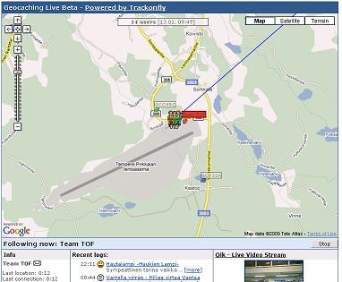 Die Webansicht (Screenshot live.geocaching.com)