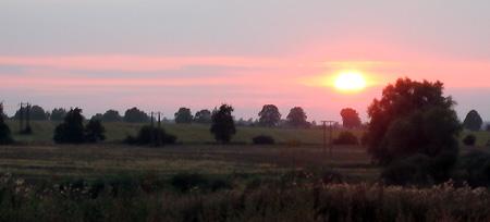 Wurde aber auch Zeit, die Sonne geht schon unter.
