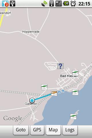 Peilung und Richtung mit Karte