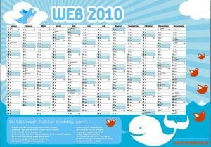 druckerei.de-Twitter-Wandkalender